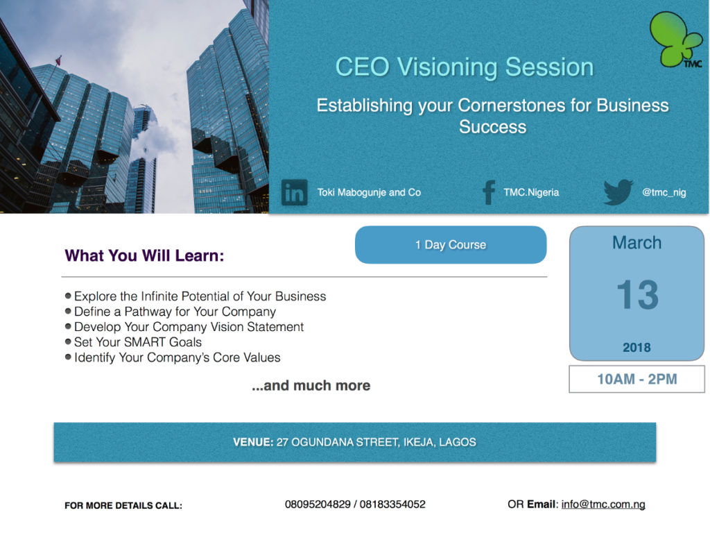 CEO Visioning Sessoion